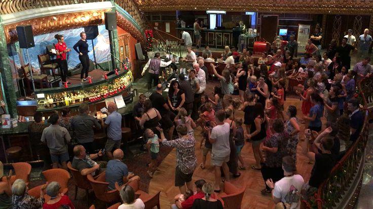 Dance party/ Song trivia @ Deck 2 atrium aboard the Carnival Spirit