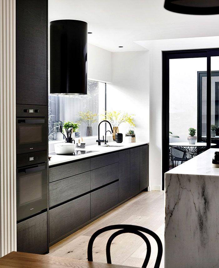 black modern kicthen cabinets_townhouse-building-inform-design-13