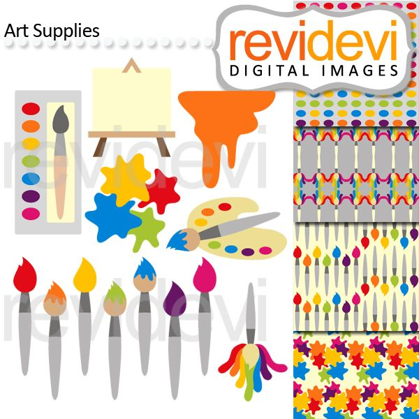 25 Best Art Party Cliparts Printables And Ideas Images On