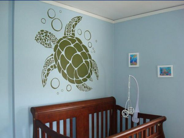 future turtle nursery for if i have another boy... hopefully not the next one though. two boys in a row i could not handle.