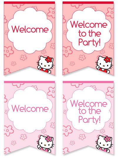 Free Hello Kitty Wele Sign for