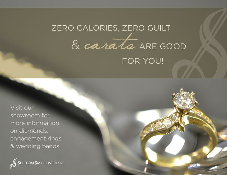 Zero Calories, Zero Guilt!Definitely 100% pleasure when you receive the perfect #diamondring!  To find out more, contact us at (204) 942-5236.  #suttonsmithworks #engagement #bridal