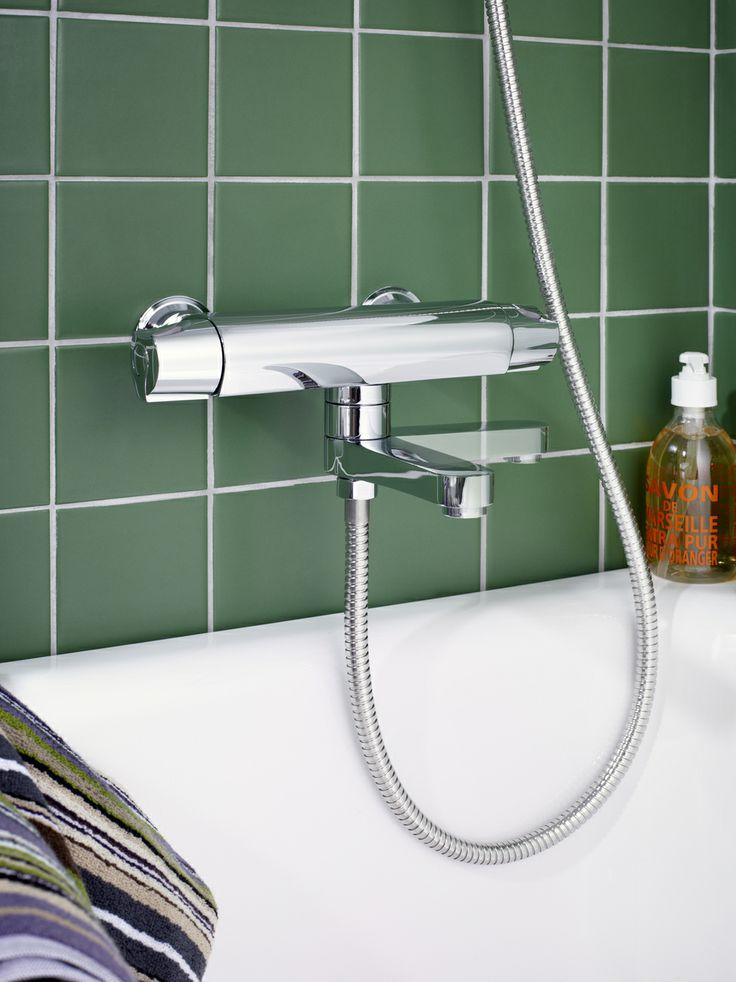 Badkarsblandare från Nautic med infällningsbar utloppspip. En smart liten detalj som förbättrar din badrumsupplevelse. | GUSTAVSBERG
