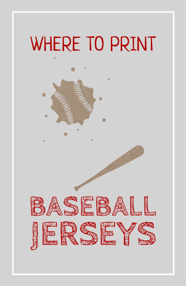 Looking for places to print your baseball jerseys? Check out these options for custom baseball jerseys