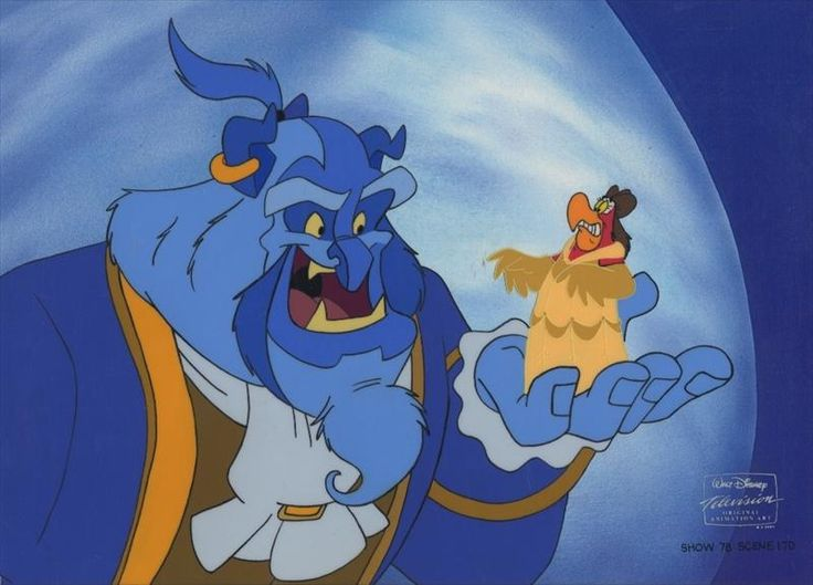 Genie and Iago as Belle and the Beast. | Disney ...