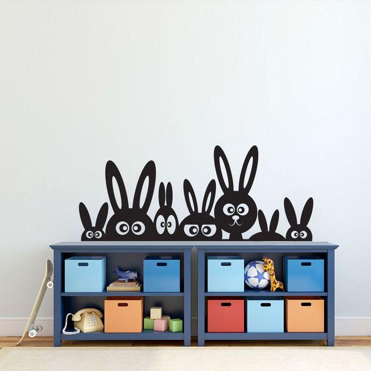 Köp Lurande kaniner väggdekor - från endast 249 kr ★ Marknadens bästa kvalitet ★ Egen produktion ★ 30 dagars returrätt ★ Snabbleverans ★