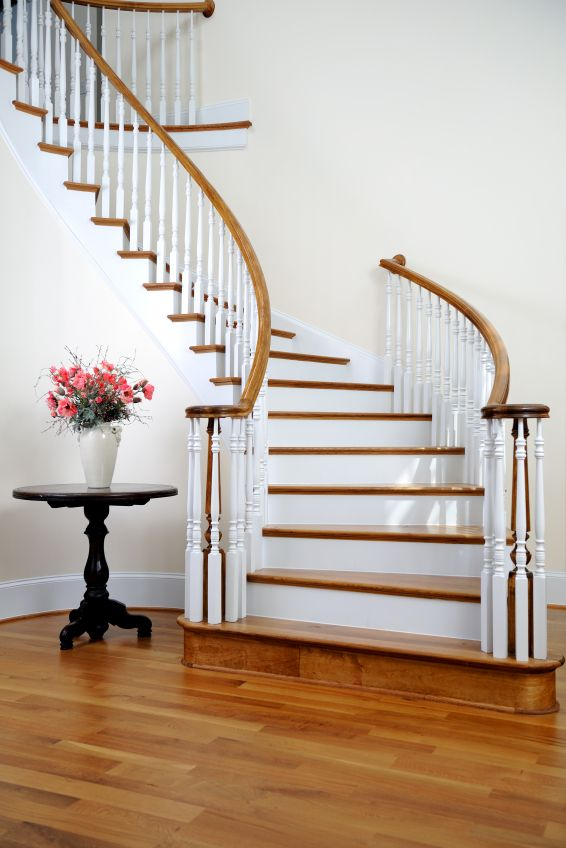 93 best stairs images on pinterest foyer staircase staircases and stairs - Staircase small space paint ...