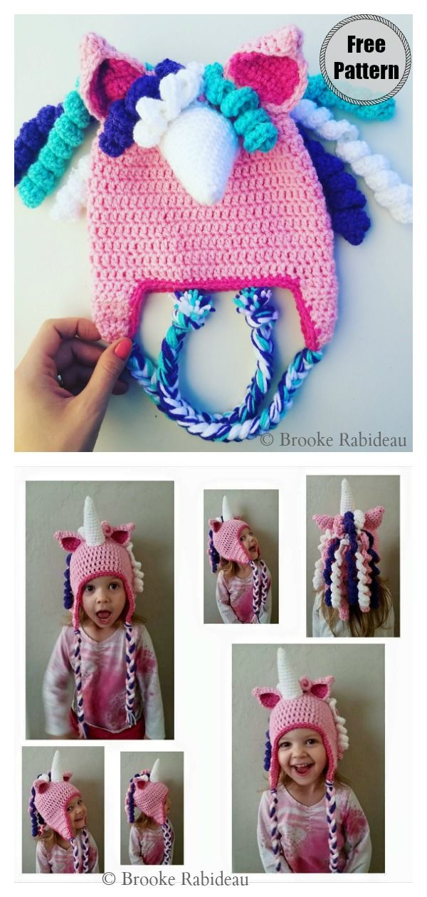 Unicorn Hat Free Crochet Pattern