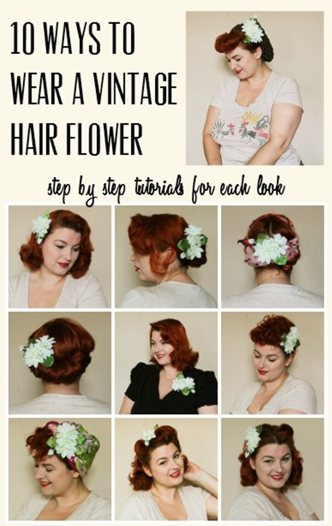 10 ways to wear a vintage hair flower with flowers by Chatter Blossom