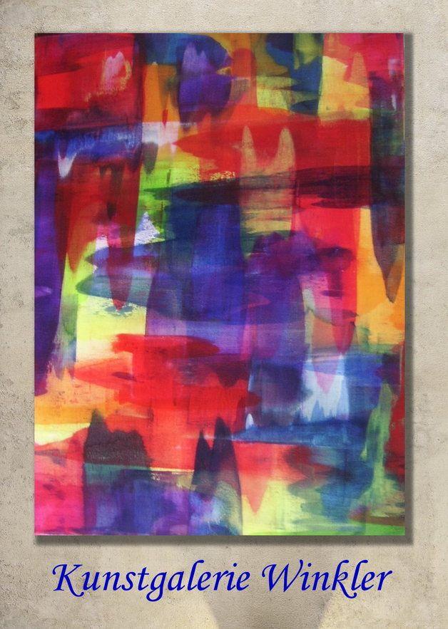 Acrylmalerei - Gemälde Abstrakt Acrylbilder Leinwand Unikat - ein Designerstück von A-Winkler bei DaWanda  http://de.dawanda.com/shop/A-Winkler