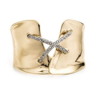 Favoire is the coolest way to add purpose to your purchases. Like this gold and crystal cuff bracelet from Alexis Bittar