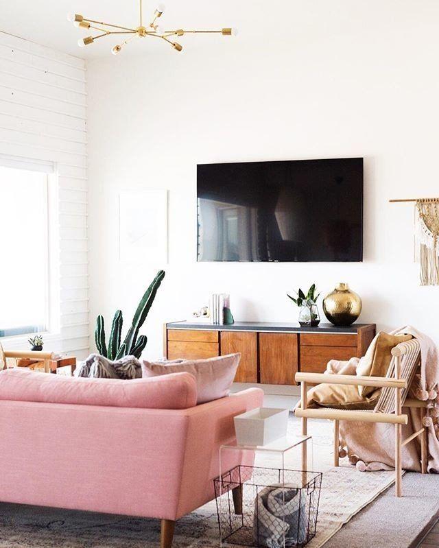 Emil Quartz Rose Sofa Living Room Design Inspiration Living Room Makeover Apartment Living Room