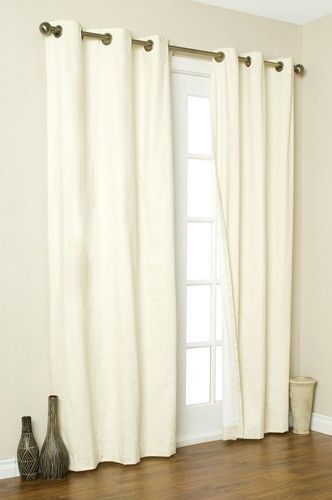 Sliding Glass Door Treatment Thinking Of Doing Something Like This Instead Of The Ugly Blinds