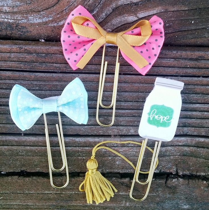 Bible Tab or Planner Bookmark made with bows, stickers and paperclips  tassel also included in your purchase
