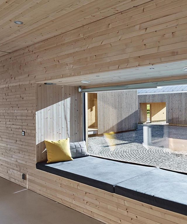 Another stunning window seat proving the perfect place to relax! ✨ This one situated next to the sauna in Anssi Lassila's project for OOPEAA Office by @jamessilvermanphoto via Dwell Magazine