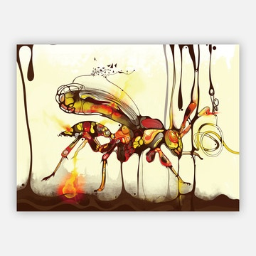 very interesting and cool!Picture-Black Posters, Art Design, Wasp Posters, Posters 18X24, Shadows Chen, Insects Illustration, Posters 24X18, Sharpe Shirter, Insects Inspiration