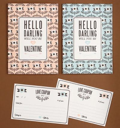 Free printable Valentine cards | How About Orange | Love vs. Design