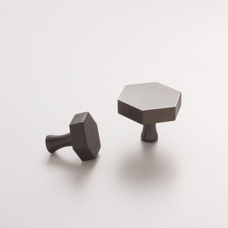 Hex Knob - Matte Bronze | Cabinet Knobs | Hardware