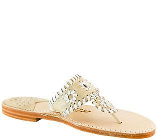 Palm Beach Leather Thong Sandals - Classic