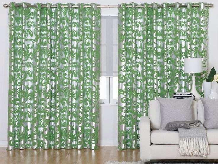Clearance Pascale Green Pencil Pleat Curtains