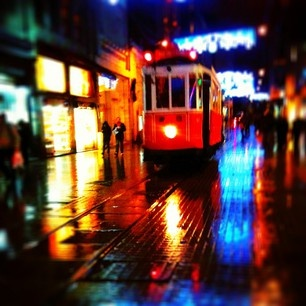 The Tram: Symbol of the famous street in Istanbul.