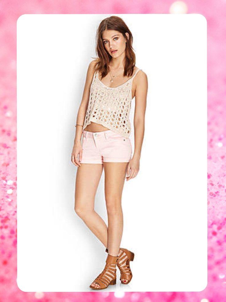 ***AGOTADO*** Forever 21  Código: FSH-24 Stretch cuffed #denim #shorts Talla: 7 Color: Pink Precio: $33,00 (¢18.000) Para pedidos y consultas llamar al teléfono 8963-3317 o al email maya.boutique@hotmail.com.