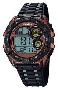 Relojes-Calypso-hombre-reloj-digital-con-alarma-negromarrn-K56703-0