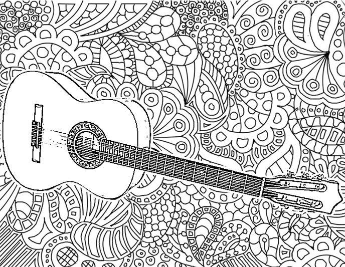 21 best images about adult coloring music on pinterest for Coloring pages of music