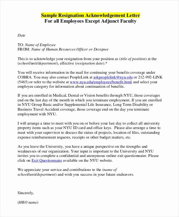 Employee Acknowledgement Form Template Awesome Employee Acknowledgement Letter Template 6 Free Word Travel Planner Template Templates Rubric Template