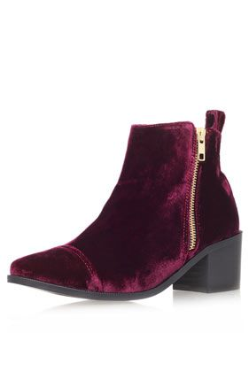 **Mid Heel Velvet Boots by Kurt Geiger - New In This Week  - New In