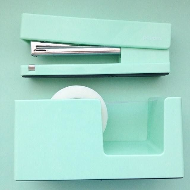Workhappy Pinboard | Poppin Stapler + Tape Dispenser #mint #workhappy