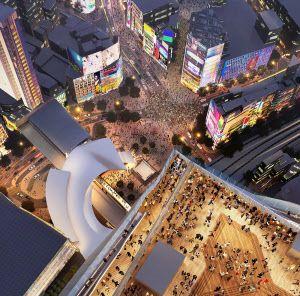 展望施設からスクランブル交差点を見下ろすイメージ(資料:東京急行電鉄)