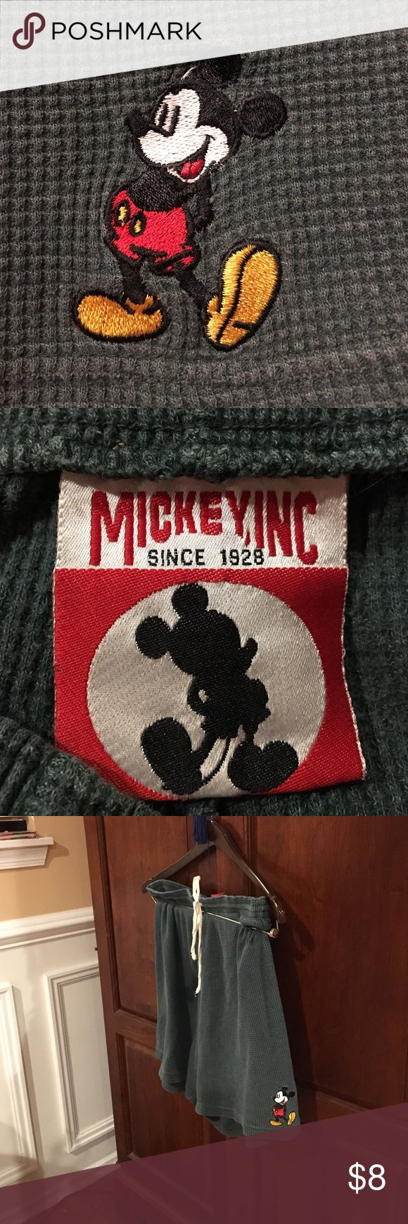 Disney Mickey Mouse thermal shorts! What's to say? So cute! Gotta love thermal! Unisex? Drawstring waist. Mickey, Inc.  Shorts