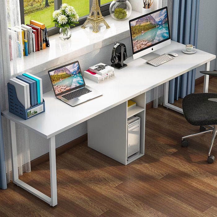 Ideal Double Length Desk That Will Impress You Desk For Two Home Office Furniture Home Desk