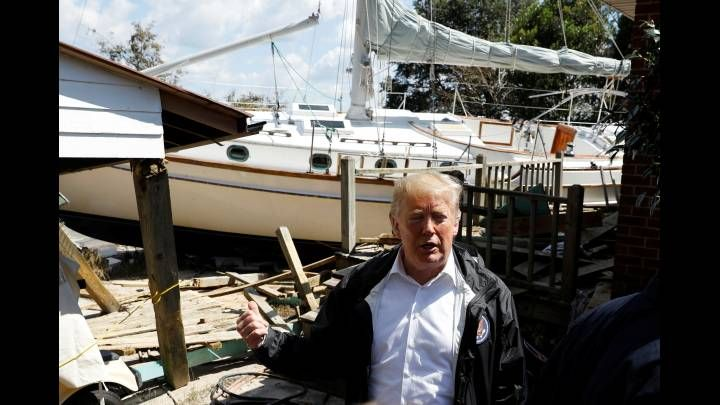 At Least You Got A Nice Boat Out Of The Deal Trump Tells Storm Victim With A Smile Trump Yacht Victims