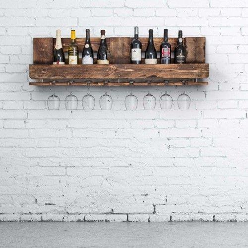 Rustik vinreol brændt - stor - Rustik Vinreoler - Vinreoler