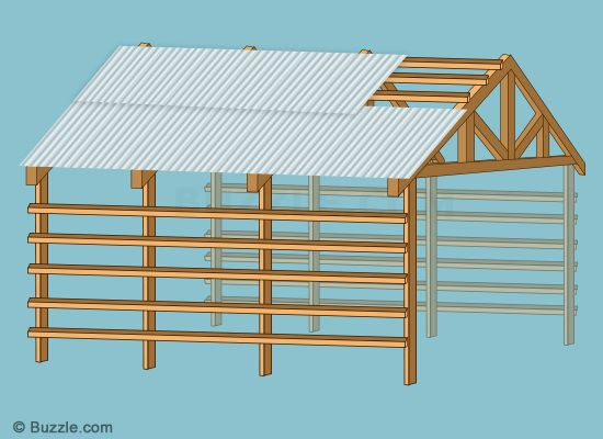 securing the roof material diy pole barns building a pole barn ...