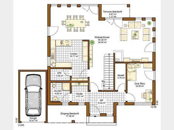 Grundriss haus modern einfamilienhaus  362 besten Grundriss Bilder auf Pinterest | Haus grundrisse ...