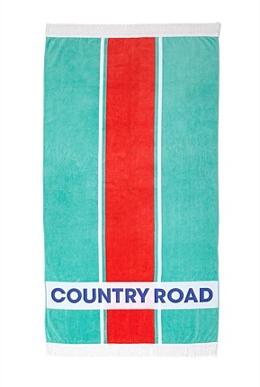 Country Road. Striped Beach towel