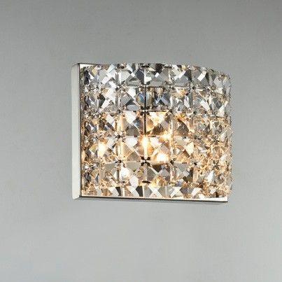 Arandela de Cristal Quadriculado Transparente CH0001-C Chandelie