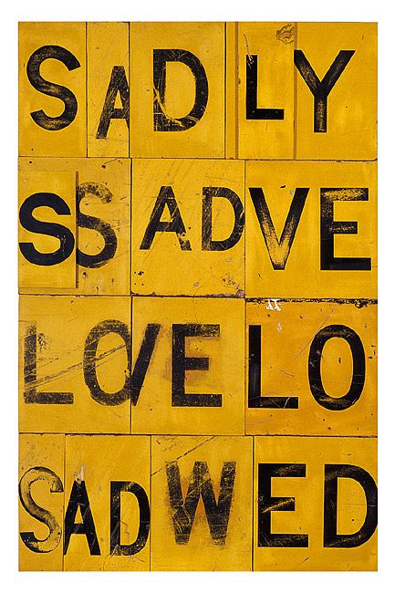 Rosalie Gascoigne, Sweet sorrow, 1990