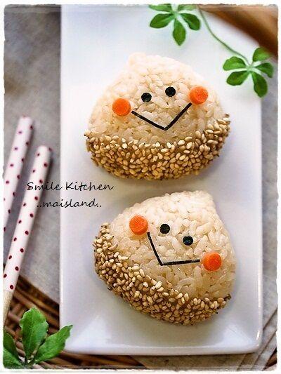 Malon onigiri (rice balls)