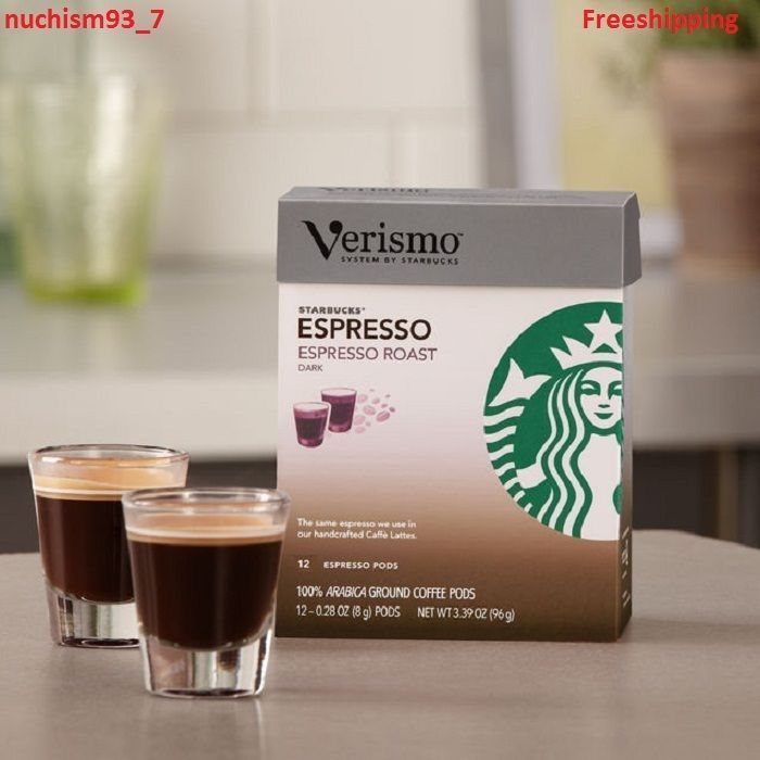 Starbucks Espresso Roast Espresso Verismo Pods 96 count (sealed) #ad