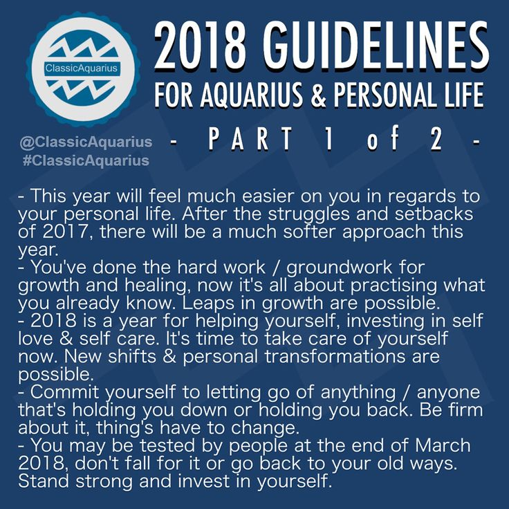 2018 #Astrology Predictions / Guidelines for PERSONAL LIFE for Aquarians. .  Remember to look up the 'Predictions' / Guidelines for your Ascendant sign, and Moon sign too. (If you don't know them search online 'free ascendant calculator' and 'free moon sign calculator' and then research 2018 and those signs, eg Pisces and love 2018... Scorpio and Career 2018.  . #ClassicAquarius #Aquarius #Aquarian #ClassicAquarius #Aquarius #Aquarian