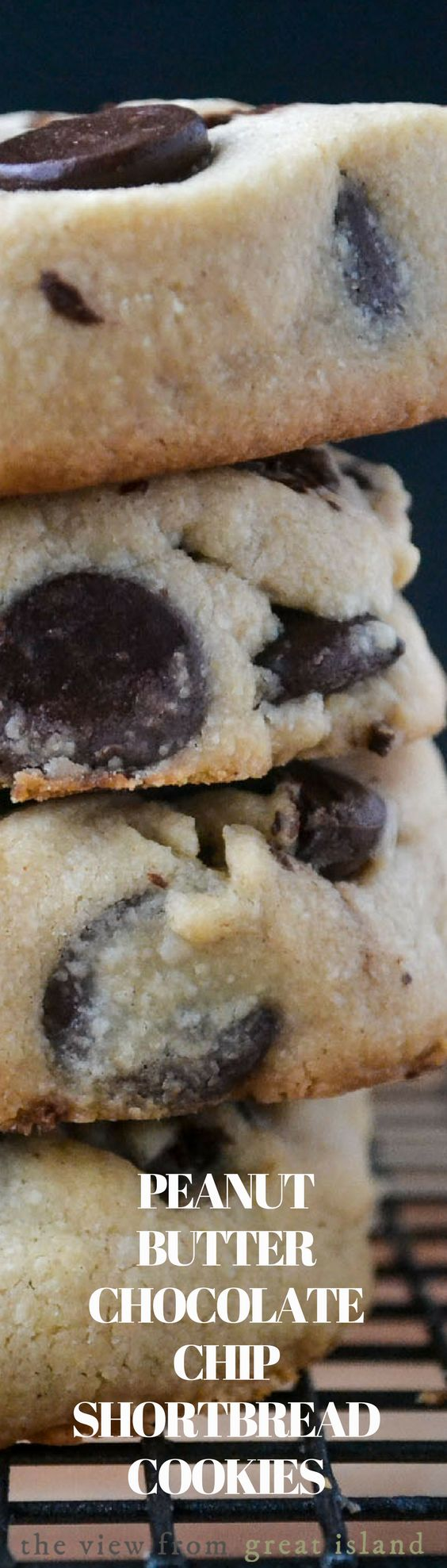 Peanut Butter Chocolate Chip Shortbread Cookies are an easy to make slice and bake cookie recipe with a melt in your mouth texture, a light peanut butter flavor, and plenty of chocolate chips!