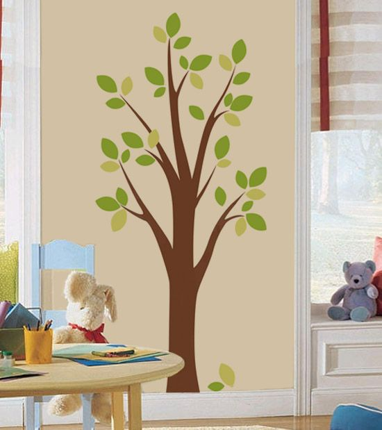 Beautiful Tree For House: Diy Tree Wall Decal Free Down Loadable Template!