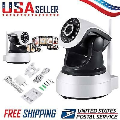 ﹩27.65. 720P Wireless Wifi IP Camera Security Network Pan Tilt CCTV Webcam Night Vision    E-mail Alert - Support, Two-Way Audio - Support, WIFI single - 2.4G WIFI, Plug  Play - Support, Features - Infra Red, Automatic Gain Control etc.., Storage - SD Card Slot, Motion Detect - Support, Type - IP Camera, Color Mode - Color Day, BW Night, Connectivity - IP/Network - Wireless, UPC - 606345251833, Brand - Cyberhub