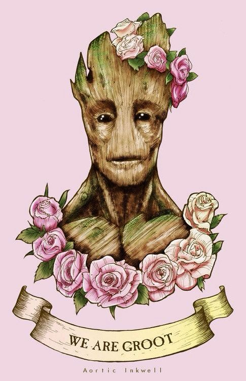 We are groot wallpaper
