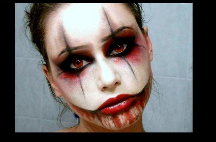 SEXY CREEPY CLOWN - Halloween Makeup