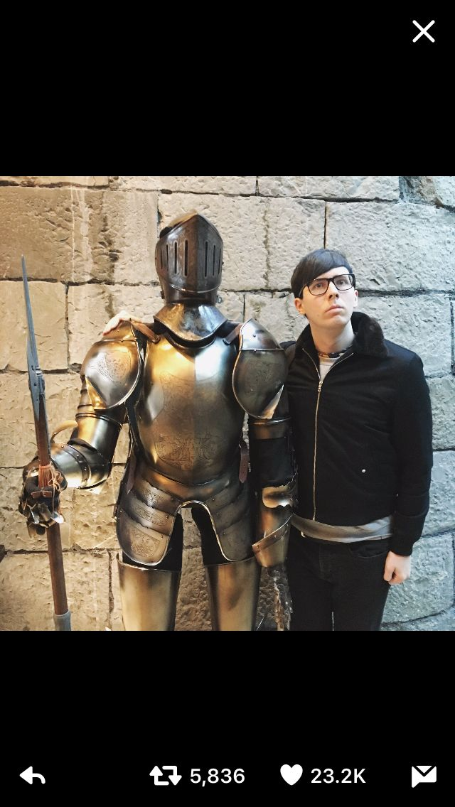 My knight in shining army and one of King Arthur's knights